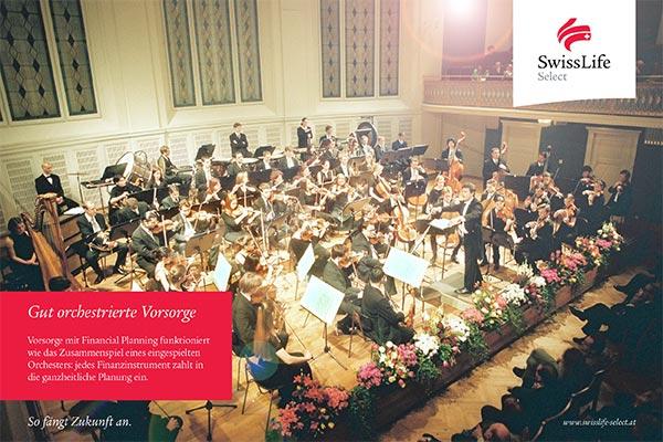 Swiss Life Select, Hauptsponsor der Jungen Philharmonie