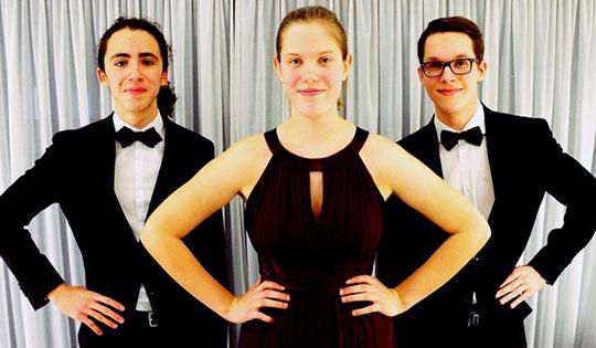 Lukas Sternath, Ania Druml und Kiron Atom Tellian